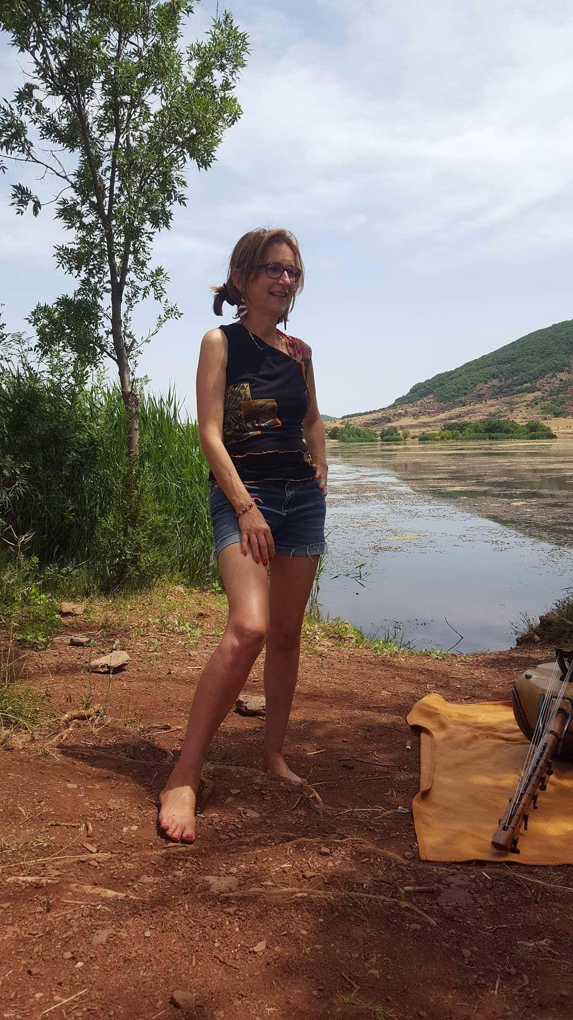 Nicole Canivenq lac salagou